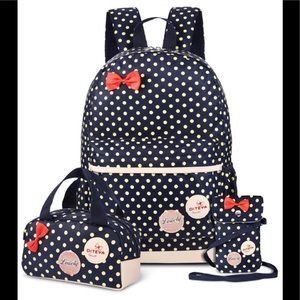 Minnie Mouse 3 piece back pack set waterproof 🆕